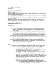 Driving Essay Outline by Texting While Driving Persuasive Essay Free Driving Essays And Papers 123helpme