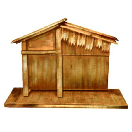 christmas stable walmart 30 quot wooden religious nativity stable walmart