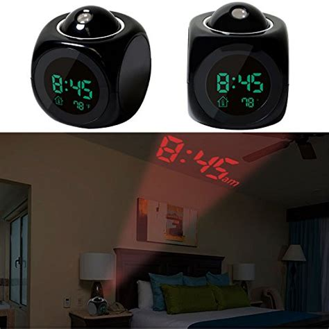 gpct projection alarm clock digital lcd voice talking import it all