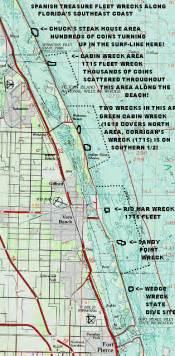map of treasure coast florida treasure coast shipwreck map