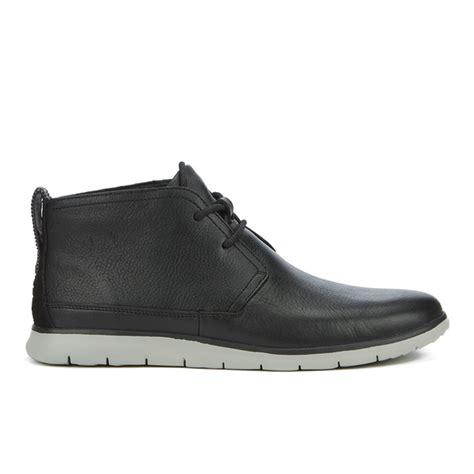 mens black leather desert boots ugg s freamon grain leather desert boots black mens