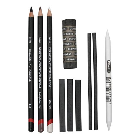 colored charcoal pencils derwent charcoal collection pack 10 count
