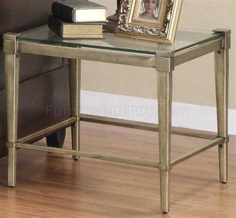 clear glass top modern pc coffee table set wmetal legs
