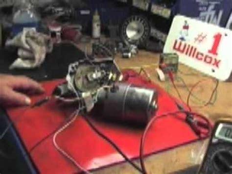 willcox corvette wire testing    wiper motor follow