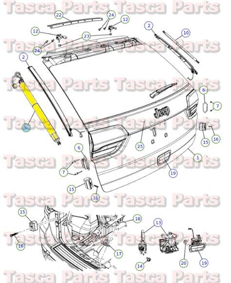 Parts For A Jeep Grand Mopar Power Lift Gate Motor Gear 2013 2014 Jeep Grand