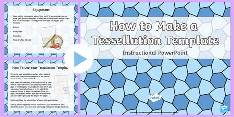 how to make a tessellation template with an index card how to make a tessellation template powerpoint
