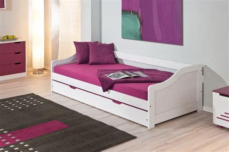 Bett 55 Cm Hoch by Bett Funktionsbett Tandembett 90 X 200 Cm Massiv Weiss