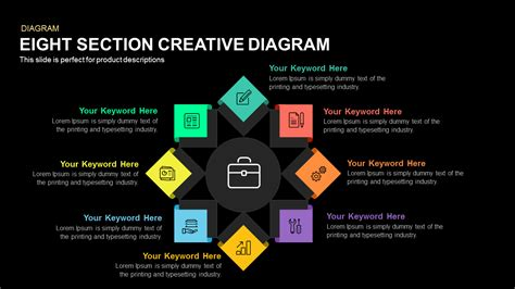 Eight Section Creative Diagram Slidebazaar Creative Diagrams