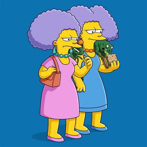 the simpsons treehouse of horror 12 selma and patty bouvier simpsons world on fxx