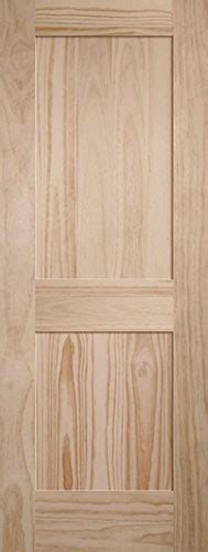 8 Panel Interior Wood Doors by Discount 6 8 Quot 2 Panel Shaker Pine Interior Wood Door Slab