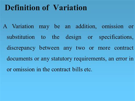 design error definition contract payments variations ppt download