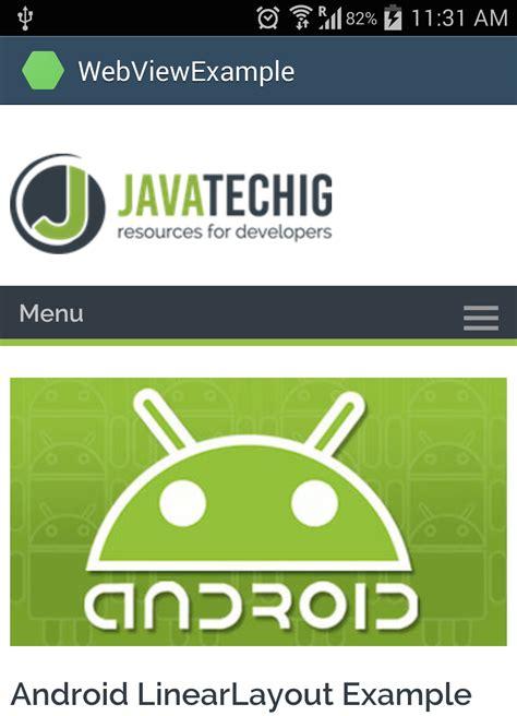 android webview exle android webview exle stacktips