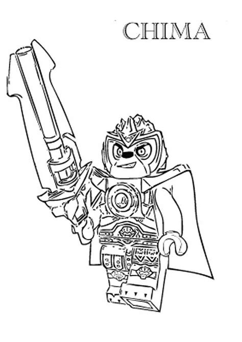 Lego Chima Coloring Pages To Print lego coloring pages with characters chima ninjago city
