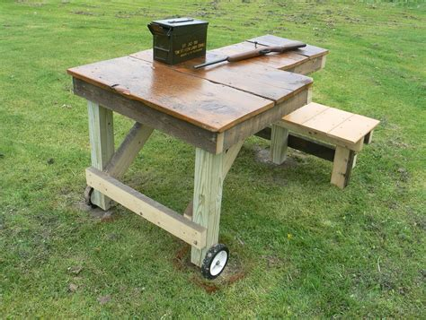 portable shooting bench building plans shooting bench plans build home design ideas