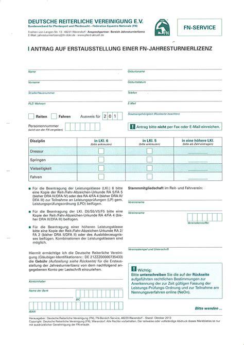 Antrag Briefwahl Hannover Antrag Auf Erstausstellung Einer Fn Jahresturnierlizenz