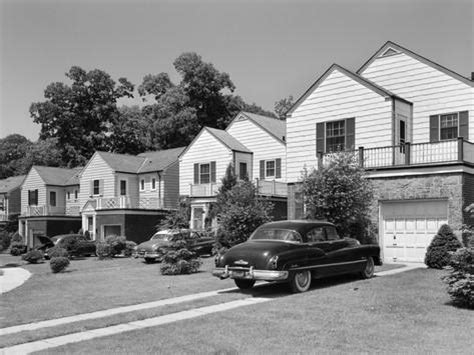 1950s homes 1950s suburban street of typical homes queens new york