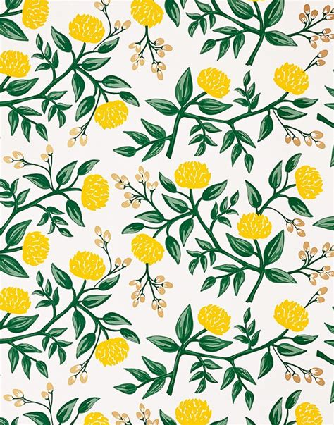 rifle paper company wallpaper rifle paper co for hygge west peonies wallpaper in yellow home pinterest rifle