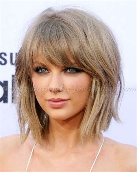 shaggy lob medium length hairstyles clavi cut lob taylor swift