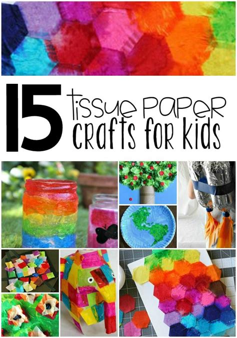Crafts To Do With Tissue Paper - 17 best ideas about tissue paper crafts on