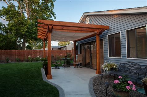 custom pergola with built in sail cloth shade 8 000