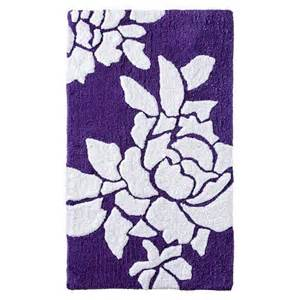 Floral Bathroom Rugs Threshold Floral Bath Rug Purple 20x34 Quot Target