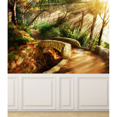 repositionable wall murals wall mural mystical pathway peel and stick repositionable fabric wallpaper for interior home
