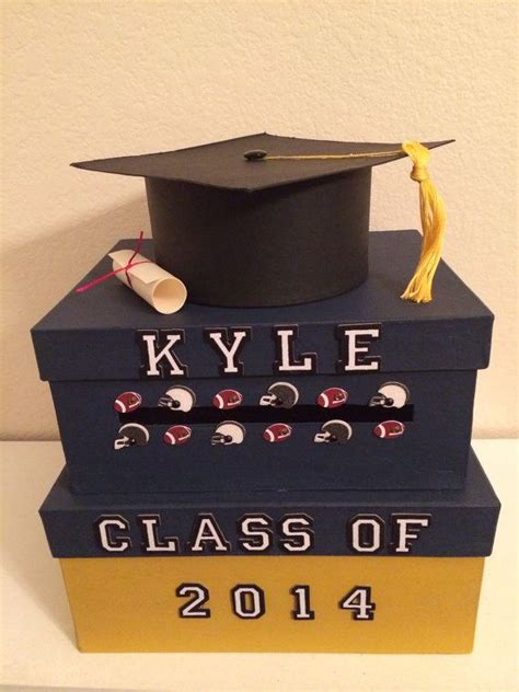 how to make a graduation card holder box best 25 graduation card boxes ideas on grad