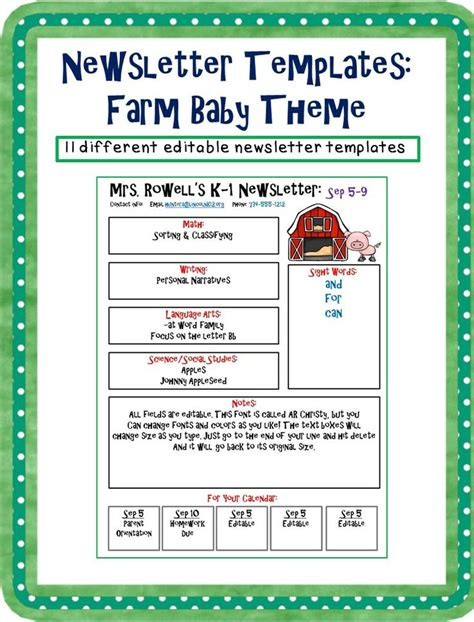 editable newsletter templates editable newsletter template farm baby themed babies