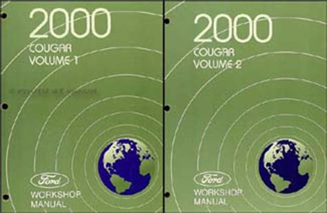 best auto repair manual 2000 mercury cougar auto manual 2000 mercury cougar repair shop manual 2 volume set original