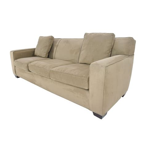 crate barrel couch crate and barrel microfiber sofa axis ii 2 seat brown