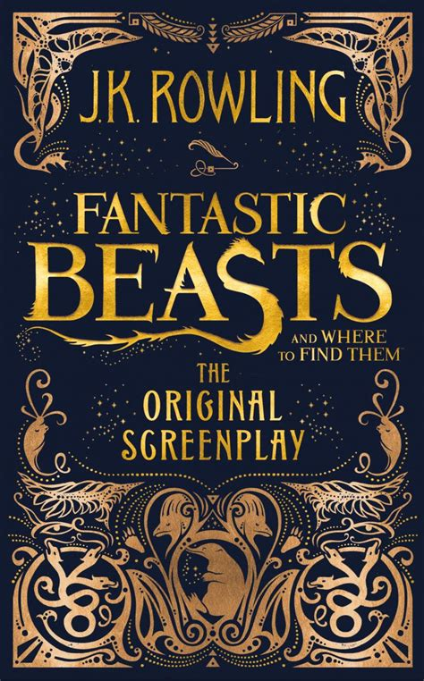 Find In Book Fantastic Beasts And Where To Find Them Cover Of Original Screenplay Revealed The