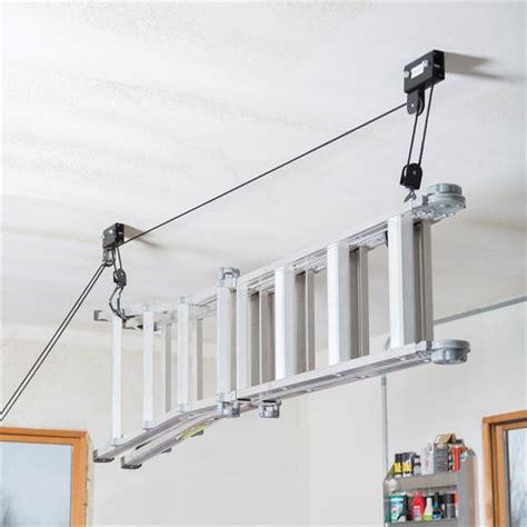 Garage Ladder Storage System by Canoe Kayak Hoist Storage System By Apex Discount Rs