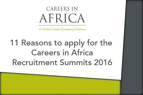 11 reasons to apply for the careers in africa recruitment