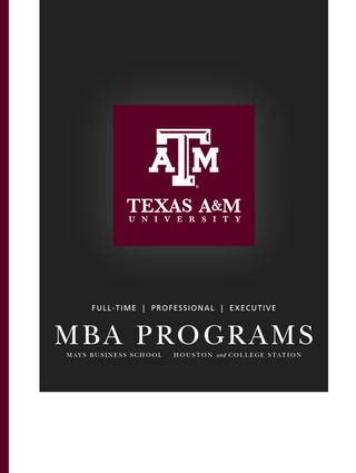 Isu Mba Courses by Pmba Brochure By Mays Business School Issuu