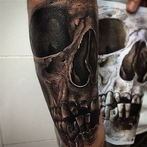 realistic skull tattoos realistic skull pictures to pin on