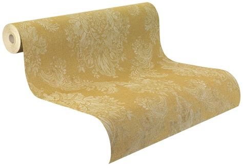 harald glööckler teppiche papiertapete rasch palace barock used gelbgold gold glanz