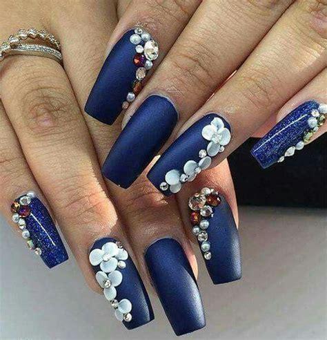 imagenes de uñas acrilicas azul rey las 25 mejores ideas sobre u 241 as azul marino en pinterest y