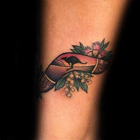 40 boomerang tattoo designs for men curved wood ink ideas