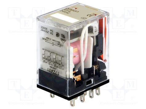 Relay Omron My4 12vdc my4 24vac s omron relay electromagnetic tme electronic components