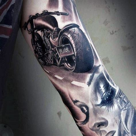 chopper tattoo designs 60 motorcycle tattoos for two wheel design ideas
