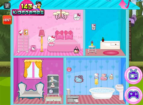 hello kitty doll house games hello kitty wedding doll house decor girls games gamingcloud