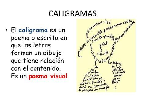 imágenes sensoriales en un poema caligramas