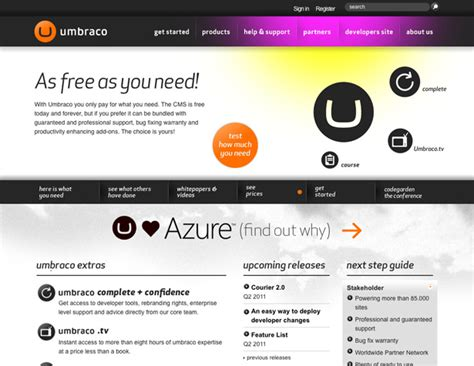 templates for umbraco cms top 10 content management systems webdesigner depot