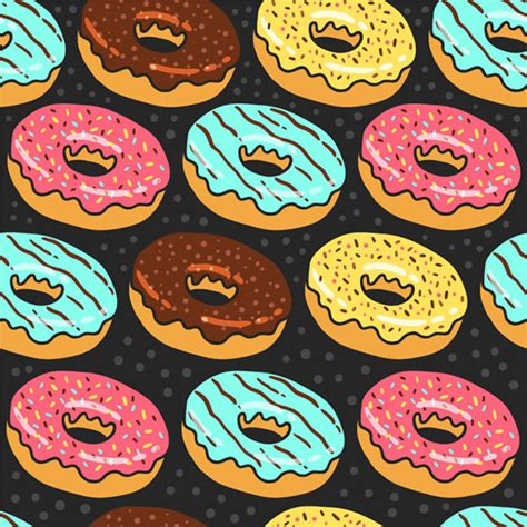 donut seamless background vector free download