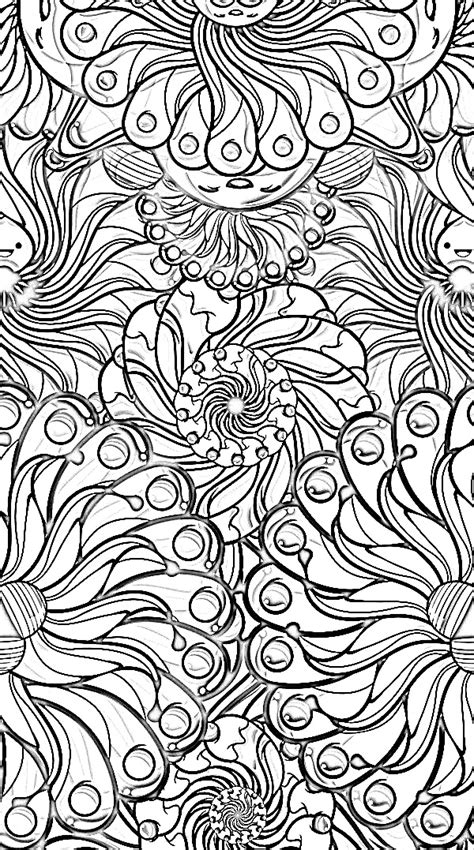 coloring book yourself color it yourself psychedelic doodling