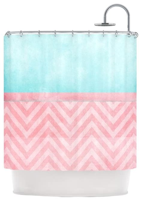 pink and turquoise curtains ingrid beddoes quot light chevron pink turquoise quot blush aqua