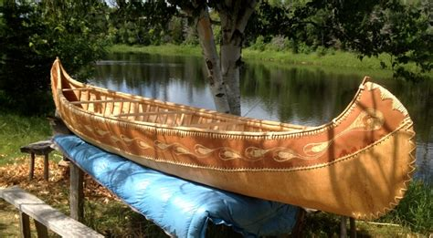 types of native american boats birch bark canoe artists keep native american tradition