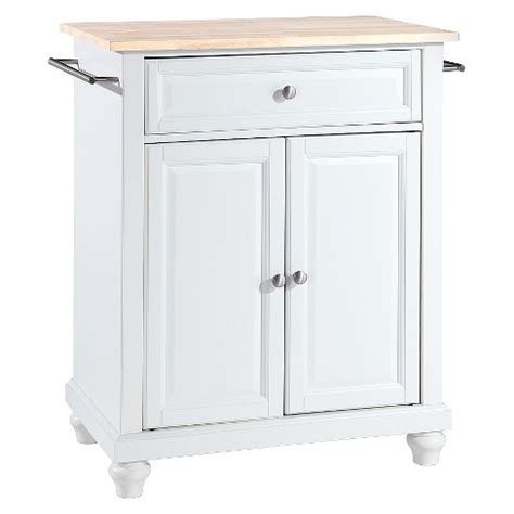 cambridge wood top portable kitchen island white