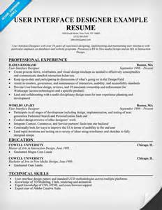 User Interface Designer Resume Example Uid