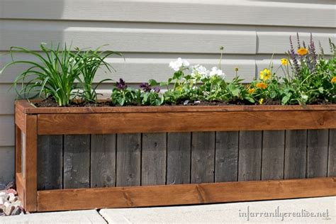 diy planter box something old something new planter box